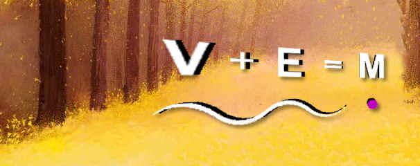 V + E = M